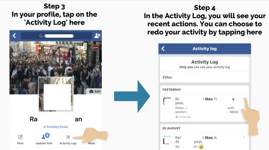 how to delete my activity log on facebook