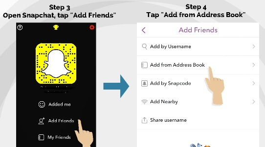 find snapchat followers using facebook
