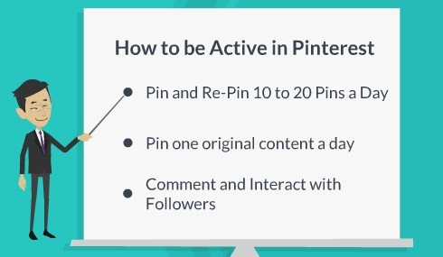 how to be active in pinterest