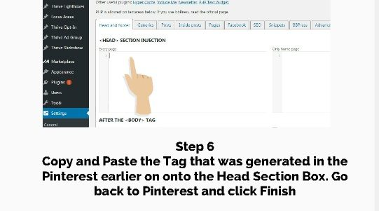 step 6 verify website in pinterest