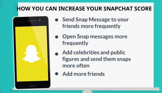 how you can increase snapchat score