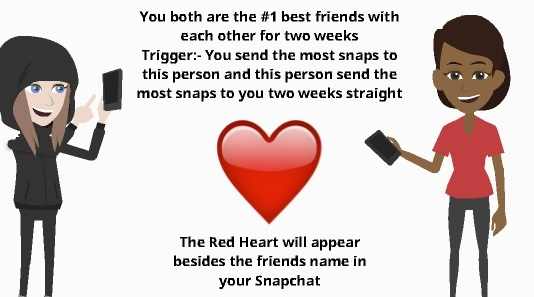 snapchat red heart