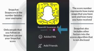what is snapchat score