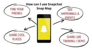 How can i use snapchat snap map 2