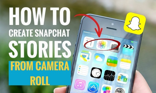 How to Create Snapchat Stories from Camera Roll 1