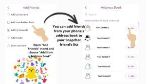 Add Snapchat Friends from Address Book 2