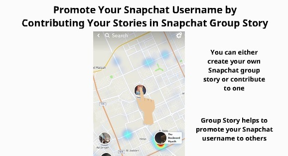 Add Snapchat friends from Group Story 10
