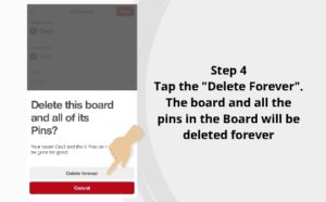 How to delete Pinterest Board 4